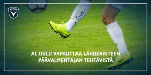 Mika Lähderinne vapautetaan päävalmentajan tehtävistä. Tilalle astuu Rauno Ojanen (Kuva: Asko Laitinen)