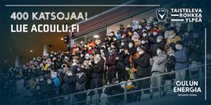 AC Oulu ottaa lauantain otteluun 400 katsojaa (Kuva: Elias Mustonen)